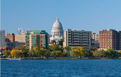 Image of the heart of Downtown Madison Wisconsin